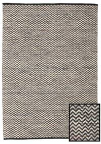 Chevron Waves - Dark Rug 140X200 Authentic  Modern Handwoven Light Grey/Dark Grey ( India)