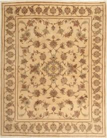 Yazd Matto 193X245 Itämainen Käsinsolmittu Vaaleanruskea/Tummanbeige (Villa, Persia/Iran)