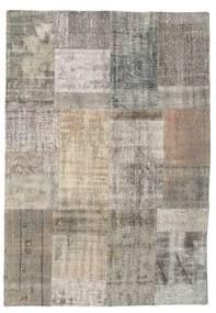 パッチワーク 絨毯 141X202 モダン 手織り 薄茶色/薄い灰色 (ウール, トルコ)