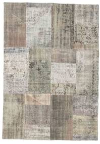 Patchwork Rug 142X203 Authentic  Modern Handknotted Light Grey/Light Brown (Wool, Turkey)