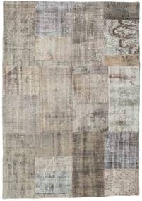 Patchwork Rug 142X201 Authentic Modern Handknotted Light Grey/Light Brown (Wool, Turkey)
