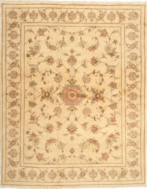 Yazd Matta 197X249 Äkta Orientalisk Handknuten Ljusbrun/Mörkbeige (Ull, Persien/Iran)
