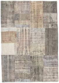 Patchwork Rug 140X202 Authentic  Modern Handknotted Light Grey/Light Brown (Wool, Turkey)