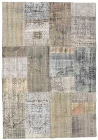 Patchwork Rug 140X200 Authentic  Modern Handknotted Light Grey/Light Brown (Wool, Turkey)