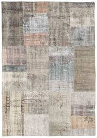 パッチワーク 絨毯 140X203 モダン 手織り 薄い灰色/薄茶色 (ウール, トルコ)