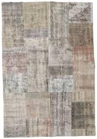 Patchwork Rug 141X203 Authentic  Modern Handknotted Light Grey/Light Brown (Wool, Turkey)