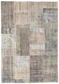 Patchwork Rug 142X202 Authentic  Modern Handknotted Light Grey/Light Brown (Wool, Turkey)