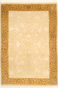 Tabriz Royal Rug 104X146 Authentic  Oriental Handknotted Light Brown/Light Pink ( India)