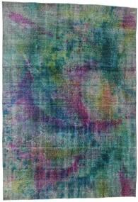 Colored Vintage Rug 195X286 Authentic  Modern Handknotted Light Grey/Dark Blue (Wool, Turkey)