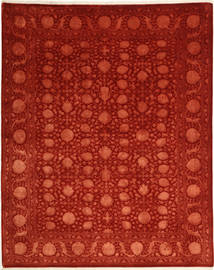 Tabriz Royal Magic Rug 202X250 Authentic  Oriental Handknotted Rust Red/Dark Red ( India)