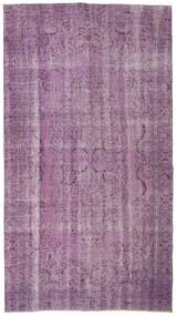 Colored Vintage Rug 165X297 Authentic  Modern Handknotted Pink/Light Purple/Light Pink (Wool, Turkey)