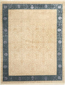 Tabriz Royal Magic Rug 198X253 Authentic  Oriental Handknotted Beige/Light Brown ( India)