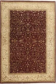 Tabriz Royal Magic Matta 164X241 Äkta Orientalisk Handknuten Mörkbrun/Ljusbrun ( Indien)