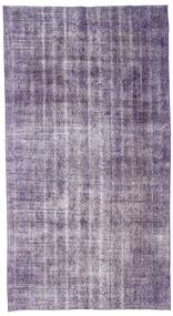 Colored Vintage Rug 150X275 Authentic  Modern Handknotted Light Grey/Light Purple (Wool, Turkey)