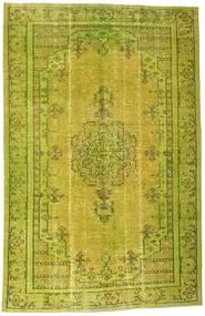Colored Vintage Tapis 193X296 Moderne Fait Main Vert Olive/Jaune (Laine, Turquie)
