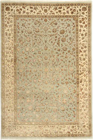 Tabriz Royal Magic Rug 165X246 Authentic  Oriental Handknotted Light Brown/Dark Beige/Light Green ( India)