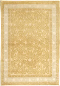 Tabriz Royal Magic Rug 172X241 Authentic  Oriental Handknotted Yellow/Dark Beige ( India)