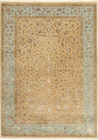 Tabriz Royal Magic Tapis 172X244 D'orient Fait Main Marron Clair ( Inde)
