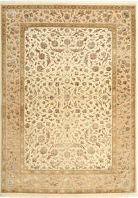 Tabriz Royal Magic Tapis 172X245 D'orient Fait Main Marron Clair/Beige ( Inde)