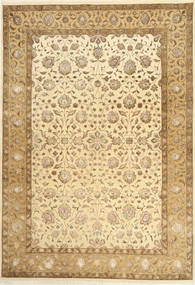 Tabriz Royal Magic Covor 167X241 Orientale Lucrat Manual Maro Deschis/Bej Închis ( India