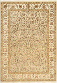 Tabriz Royal Magic Rug 167X238 Authentic  Oriental Handknotted Light Brown/Yellow ( India)