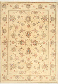 Yazd Matta 167X241 Äkta Orientalisk Handknuten Beige/Ljusbrun (Ull, Persien/Iran)