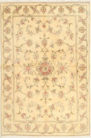 Yazd Rug 166X251 Authentic  Oriental Handknotted Light Pink/Yellow (Wool, Persia/Iran)