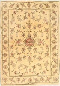 Yazd Matto 170X239 Itämainen Käsinsolmittu Vaaleanruskea/Tummanbeige (Villa, Persia/Iran)