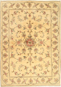 Yazd Matta 170X239 Äkta Orientalisk Handknuten Ljusbrun/Mörkbeige (Ull, Persien/Iran)