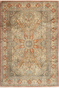 Kashmir pure silk carpet AXVZH16