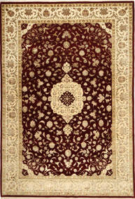 Tabriz Royal Magic Rug 192X288 Authentic Oriental Handknotted Light Brown/Dark Brown ( India)