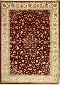 Tabriz Royal Magic Alfombra 207X290 Oriental Hecha A Mano Marrón Claro/Rojo Oscuro ( India)