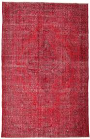 Colored Vintage Rug 210X324 Authentic  Modern Handknotted Crimson Red/Dark Red/Rust Red (Wool, Turkey)
