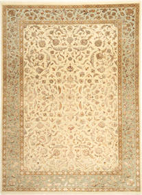 Tabriz Royal Magic Tapis 209X289 D'orient Fait Main Marron Clair/Beige ( Inde)