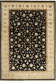 Tabriz Royal Magic Alfombra 205X292 Oriental Hecha A Mano Negro/Marrón Claro ( India)