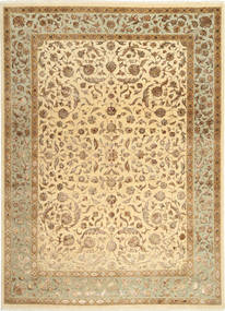 Tabriz Royal Magic Alfombra 209X286 Oriental Hecha A Mano Marrón Claro/Beige Oscuro ( India)