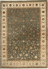 Tabriz Royal Magic Alfombra 206X288 Oriental Hecha A Mano Marrón Claro/Gris Oscuro ( India)