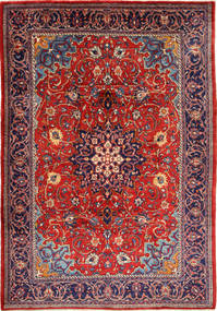 Mahal Rug 225X332 Authentic  Oriental Handknotted Dark Purple/Rust Red (Wool, Persia/Iran)