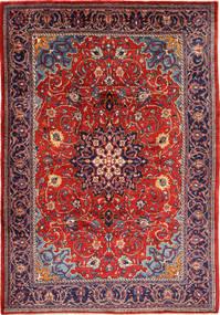 Mahal Alfombra 225X332 Oriental Hecha A Mano Púrpura Oscuro/Óxido/Roja (Lana, Persia/Irán)