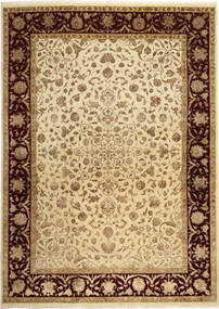 Tabriz Royal Magic Teppe 232X325 Ekte Orientalsk Håndknyttet Lysbrun/Gul ( India)