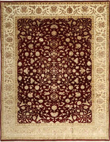 Tabriz Royal Magic Tæppe 244X315 Ægte Orientalsk Håndknyttet Lysebrun/Mørkebrun ( Indien)