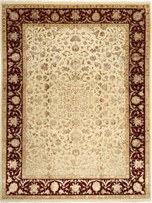 Tabriz Royal Magic Teppe 237X310 Ekte Orientalsk Håndknyttet Lysbrun/Mørk Beige ( India)