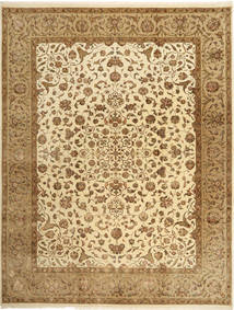 Tabriz Royal Magic Teppe 242X312 Ekte Orientalsk Håndknyttet Brun/Lysbrun ( India)