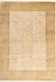 Tabriz Royal Magic Tapijt 167X238 Echt Oosters Handgeknoopt Lichtbruin/Donkerbeige/Geel ( India)