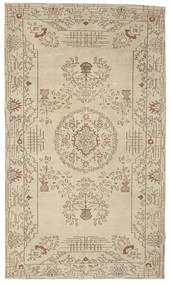Colored Vintage Rug 180X310 Authentic  Modern Handknotted Dark Beige/Light Brown (Wool, Turkey)