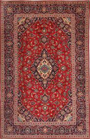 Keshan Matta 197X307 Äkta Orientalisk Handknuten Mörkröd/Mörkblå (Ull, Persien/Iran)