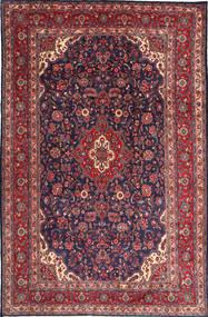 Hamadan Shahrbaf Matta 217X335 Äkta Orientalisk Handknuten Mörklila/Röd (Ull, Persien/Iran)