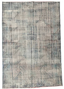 Colored Vintage Rug 194X278 Authentic  Modern Handknotted Light Grey/Dark Grey (Wool, Turkey)