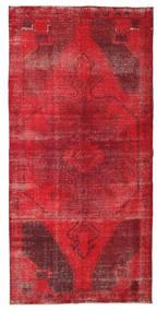 Colored Vintage Tapete 127X260 Moderno Feito A Mão Tapete Passadeira Vermelho/Vermelho Escuro (Lã, Turquia)