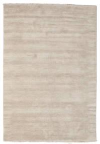 Handloom fringes - Light Grey / Beige carpet CVD16596